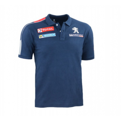 T-shirt ufficiale Polo da uomo blu scuro Peugeot Sport
