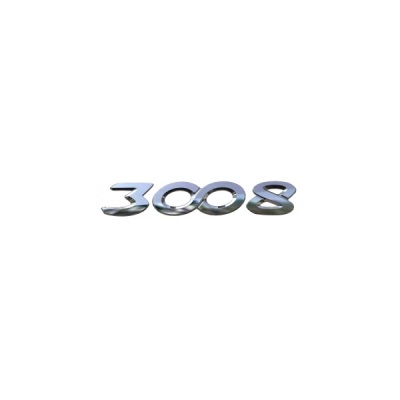 "Badge ""3008"" rear Peugeot - New 3008 (P84)"