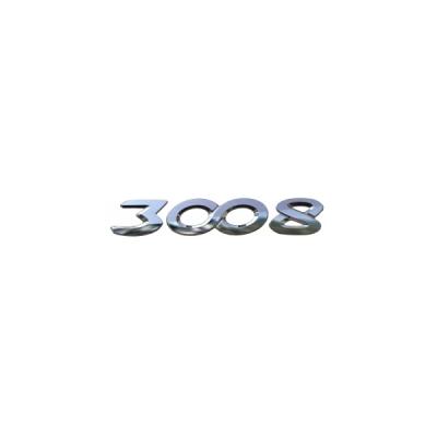 "Monogrammo ""3008"" posteriore Peugeot - Nuova 3008 (P84)"