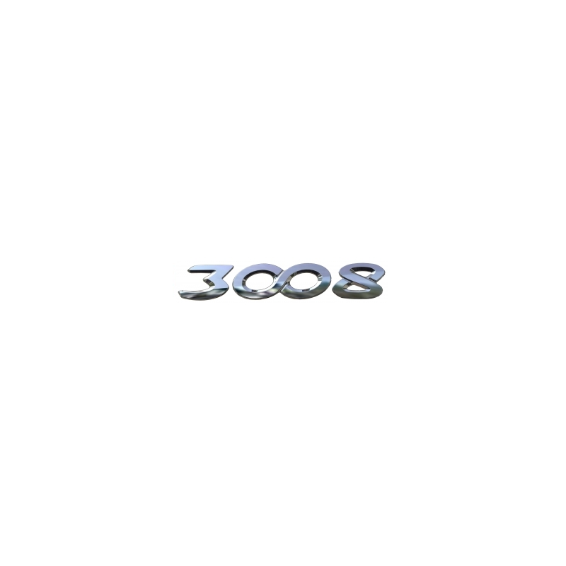 "Monograma ""3008"" trasero Peugeot - 3008 (P84)"