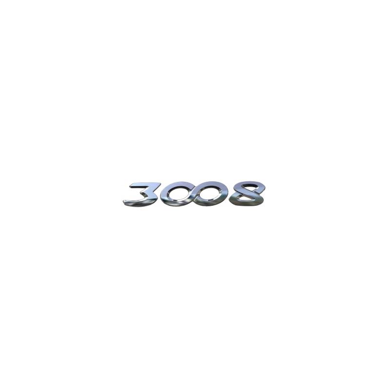 """Štítek """"3008"""" zadní část vozu Peugeot - Nová 3008 (P84)"""