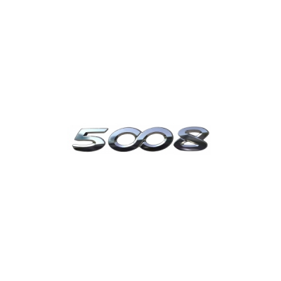 """Štítok """"5008"""" zadná časť vozidla Peugeot - Nová 5008 (P87)"""
