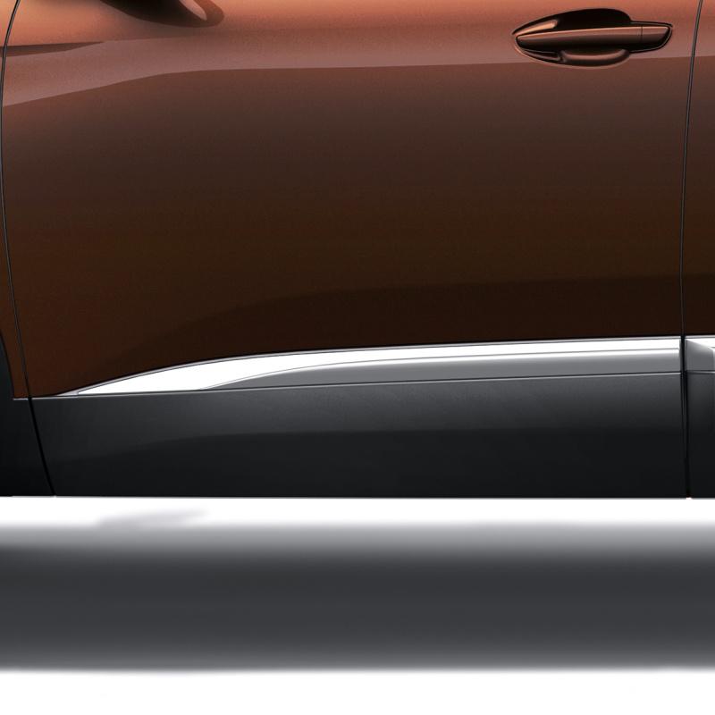 Side front door protector left CHROME Peugeot - 3008 (P84), New 5008 (P87)