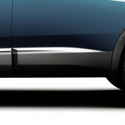 Bočné chránič zadných dverí ľavý CHROM Peugeot - Nová 5008 (P87)