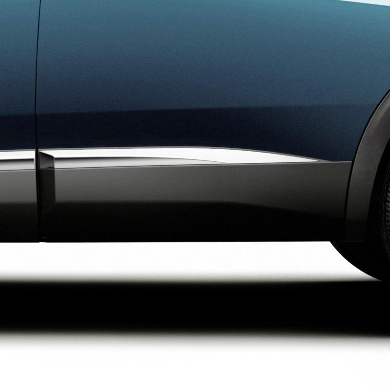 Side rear door protector left CHROME Peugeot - New 5008 (P87)