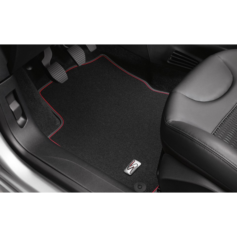 "Set of velour floor mats ""LIGNE S"" Peugeot 208"