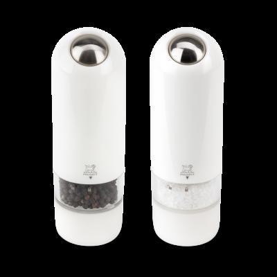 Darčekový set Peugeot elektrických mlynčekov na korenie a soľ  ALASKA - biely
