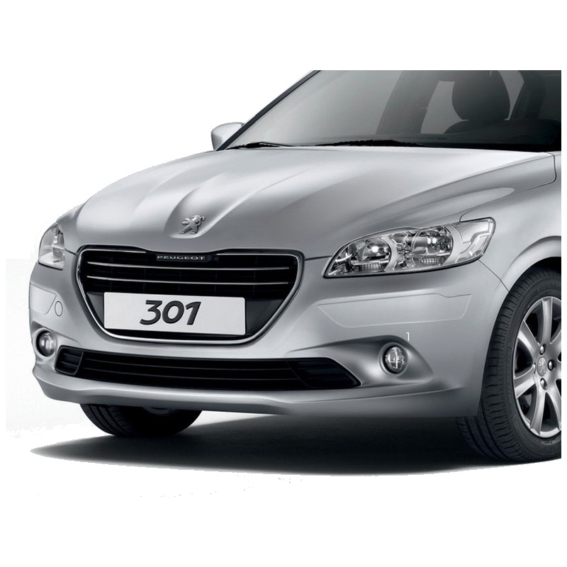 Set of protection cappings for front and rear bumpers Peugeot 301