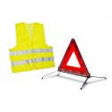 Sada výstražného trojúhelníku a bezpečnostní vesty