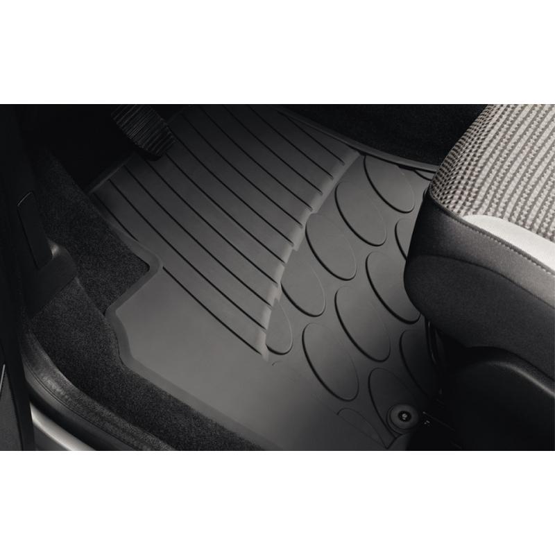 Set of rubber floor mats front Peugeot Partner (Tepee) B9, Citroën Berlingo (Multispace) B9