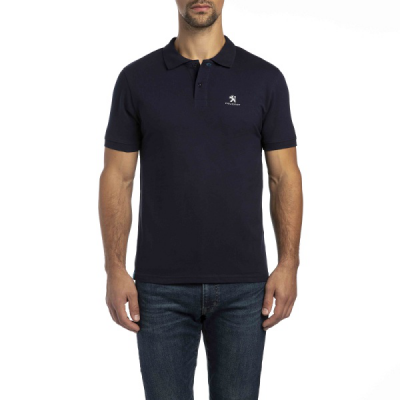 Men's Polo T-Shirt Peugeot dark blue
