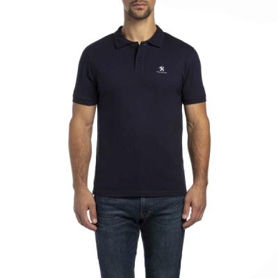 T-shirt Polo da uomo Peugeot blu scuro