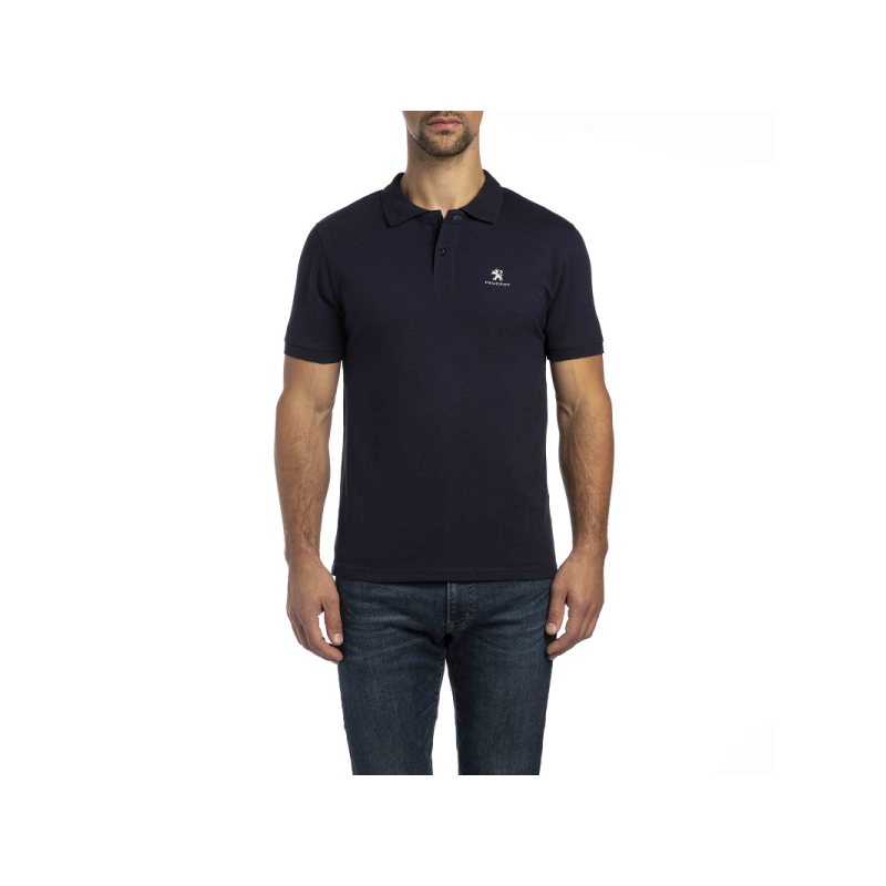 Herren Polo T-shirt Peugeot Dunkelblau