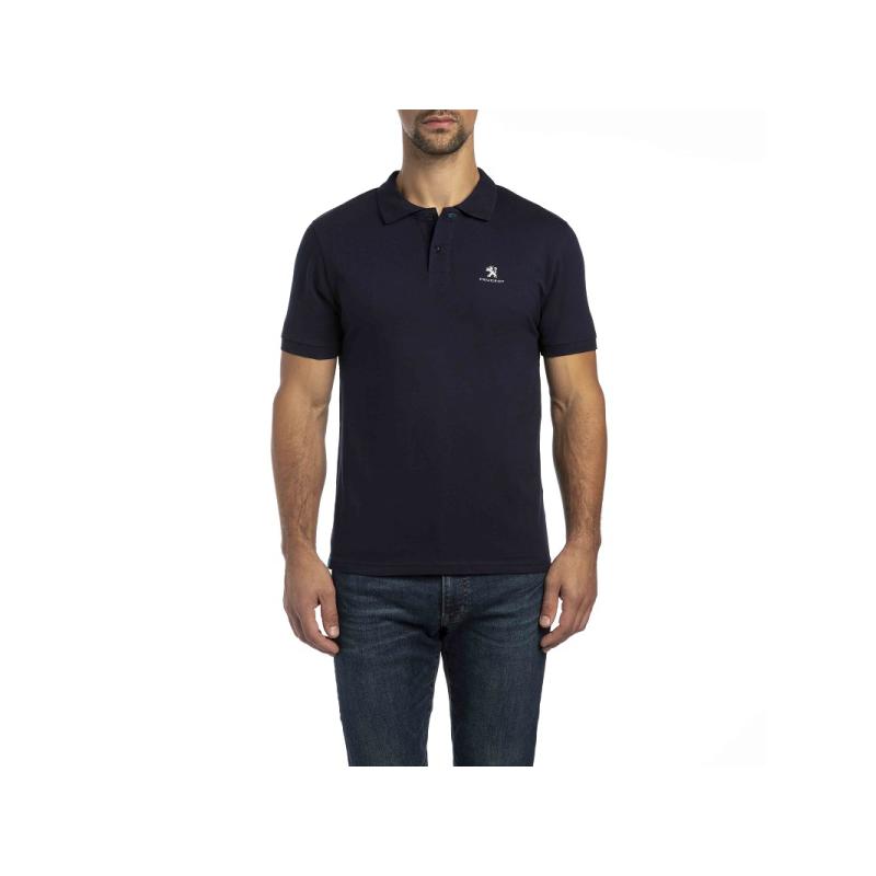 Men's Polo T-Shirt Peugeot dark blue