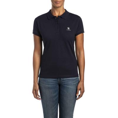 Damen Polo T-shirt Peugeot Dunkelblau