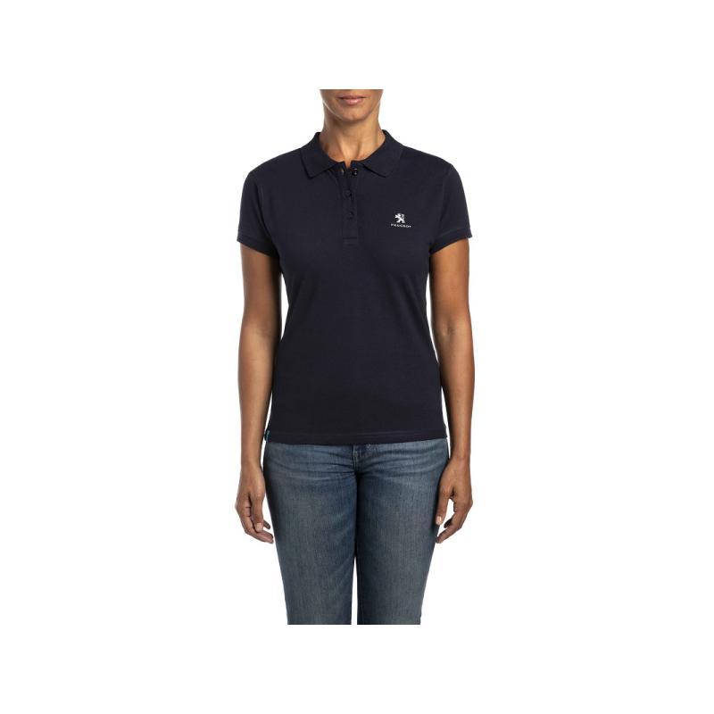 T-shirt Polo da donna Peugeot blu scuro