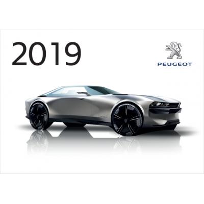 Oficiálne nástenný kalendár Peugeot 2019