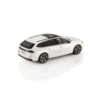 Modellino Peugeot 508 SW (R8) bianco Nacré 1:43