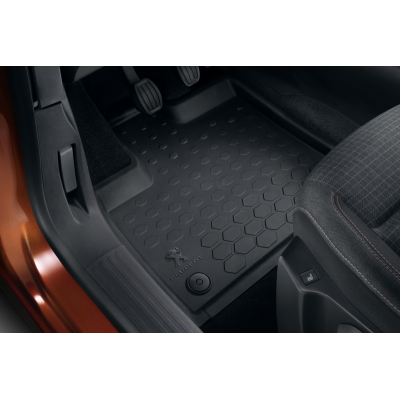 Set of rubber floor mats front Peugeot Rifter, Partner (K9)