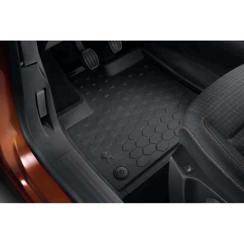 Serie di tappetini in gomma anteriori Peugeot Rifter, Partner (K9)