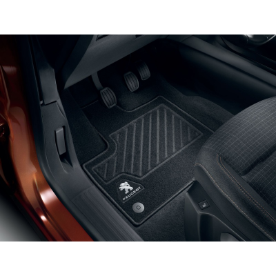 Satz bodenmatten aus nadelflies-qualität vorne Peugeot Rifter, Partner (K9)