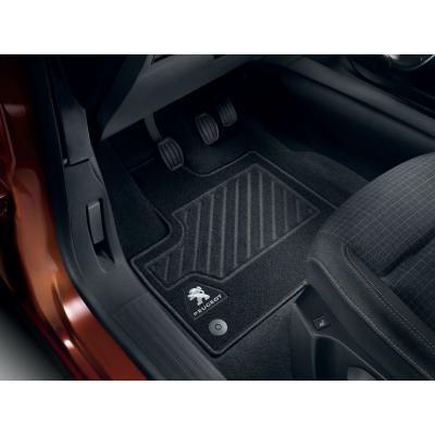 Serie di tappetini in moquette agugliata anteriori Peugeot Rifter, Partner (K9)