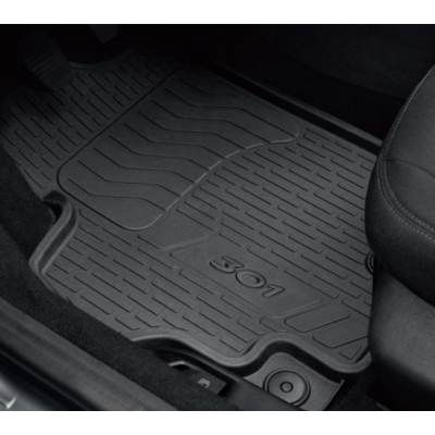 Set of rubber floor mats Peugeot 301