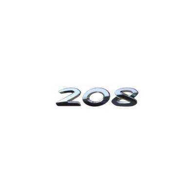 """Štítek """"208"""" zadní část vozu Peugeot 208"""