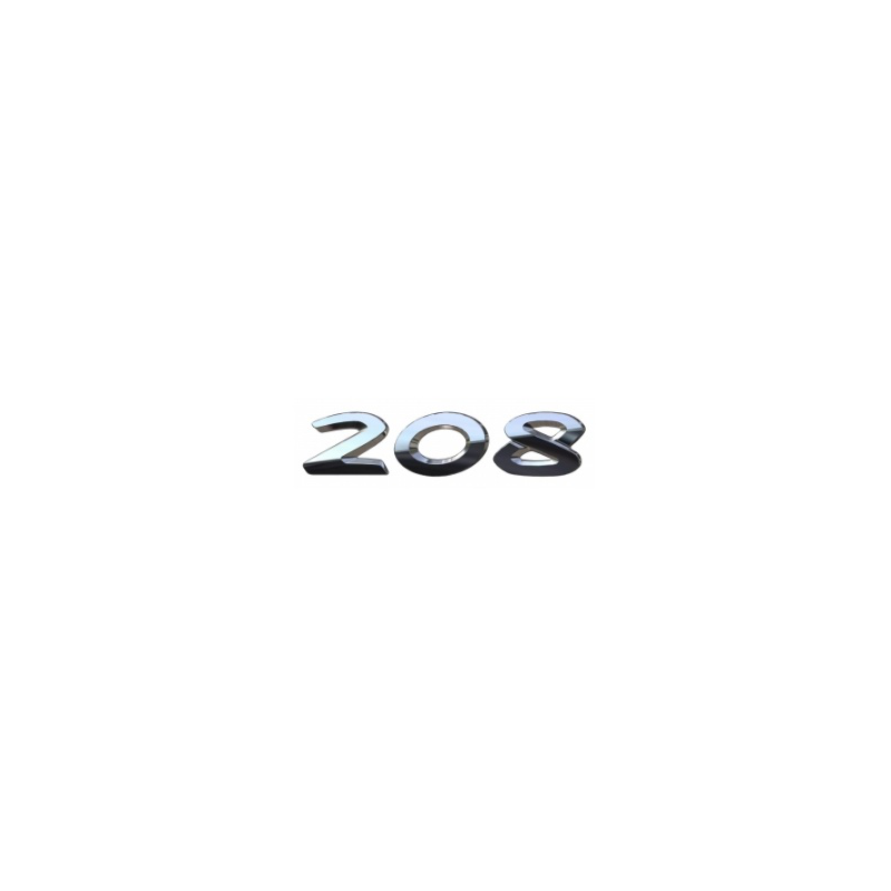 """Badge """"208"""" hinten Peugeot 208"""