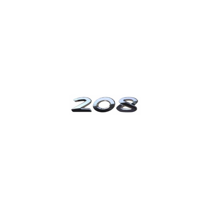 "Monograma ""208"" trasero Peugeot 208"