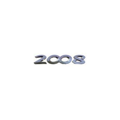 """Štítok """"2008"""" zadná časť vozidla Peugeot 2008"""