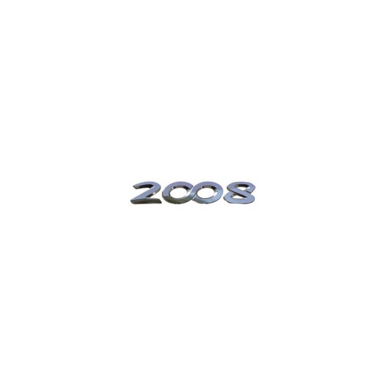 """Štítek """"2008"""" zadní část vozu Peugeot 2008"""