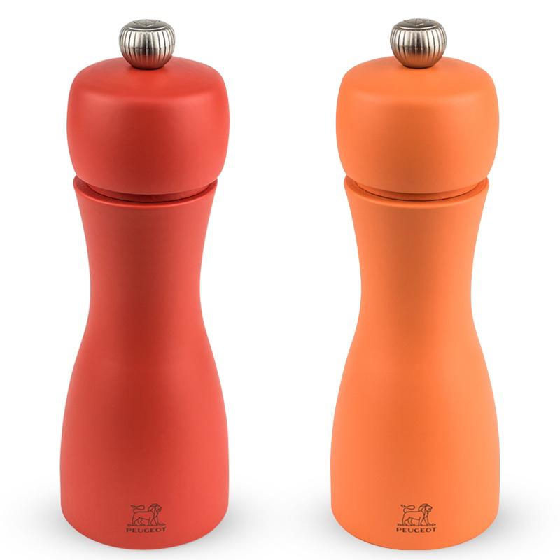 Peugeot TAHITI darčekový set mlynčekov na korenie a soľ, červená 15 cm