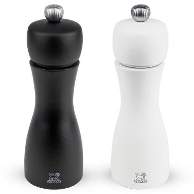 Peugeot TAHITI Dúo de molinillos de pimienta y sal, negro y blanco 15 cm