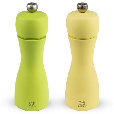 Peugeot TAHITI Duo Pfeffer- und Salzmühle, Apfelgrün und Strohgelb, 15 cm