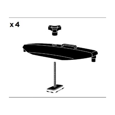 Fixing kit for roof box