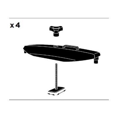 Kit de fijación para caja de techo