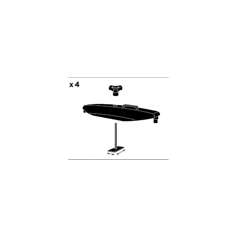 Kit di fissaggio per portabagagli da tetto