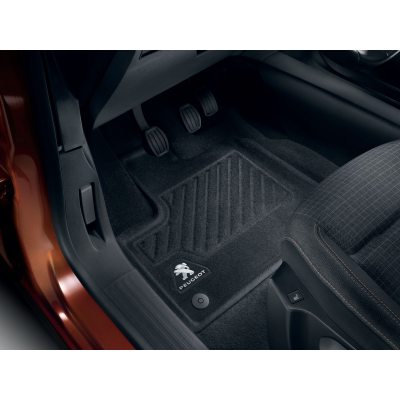 Serie di tappetini sagomati anteriori Peugeot Rifter, Partner (K9)