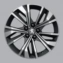 """Llanta de aleación Peugeot MERION negro 17"""" - 508 (R8)"""