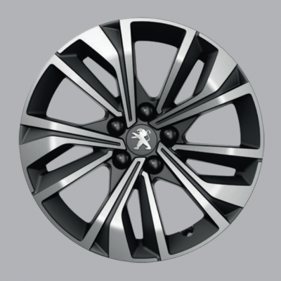 "Alloy wheel Peugeot MERION black 17"" - 508 (R8)"
