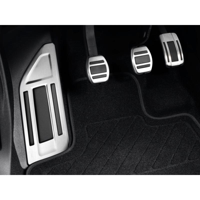 Súprava hliníkových pedálov a opierky na nohy pre MANUÁLNOU prevodovku Peugeot - 508 (R8), 508 SW (R8)