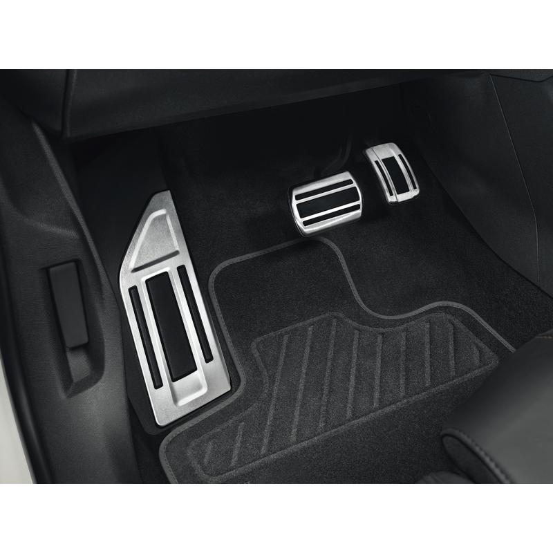 Súprava hliníkových pedálov a opierky na nohy pre AUTOMATICKOU prevodovku Peugeot - 508 (R8), 508 SW (R8)