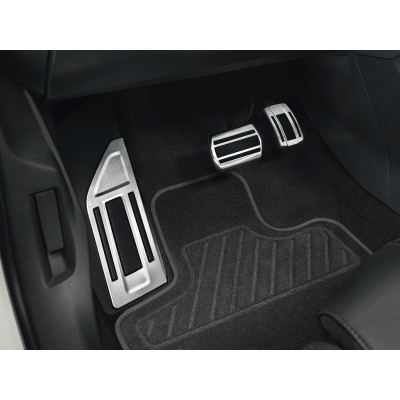 Sada hliníkových šlapek pedálů a opěry chodidla pro AUTOMATICKOU převodovku Peugeot - 3008 SUV (P84), 5008 SUV (P87)