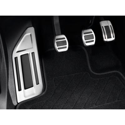 Sada hliníkových šlapek pedálů a opěry chodidla pro MANUÁLNÍ převodovku Peugeot - 3008 SUV (P84), 5008 SUV (P87)