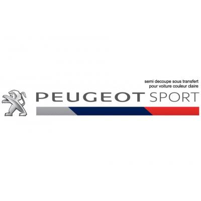 Samolepka tmavá Peugeot Sport