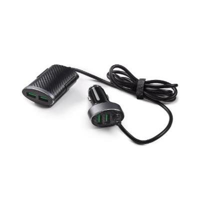 Cargador de 12 V con 2 USB delanteros y 2 USB traseros