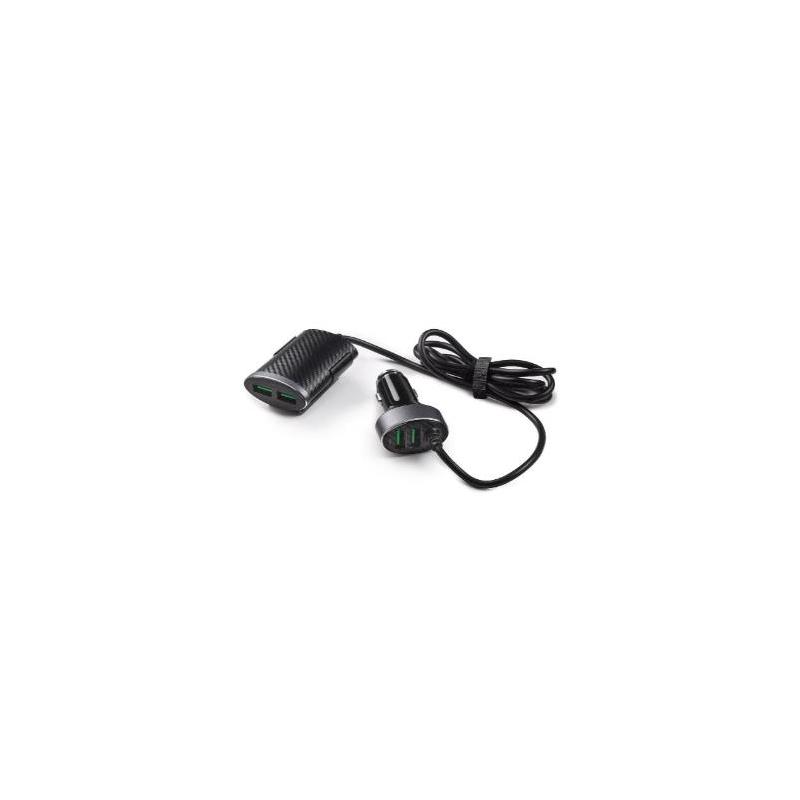 Caricatore 12 V con 2 USB anteriori e 2 USB posteriori