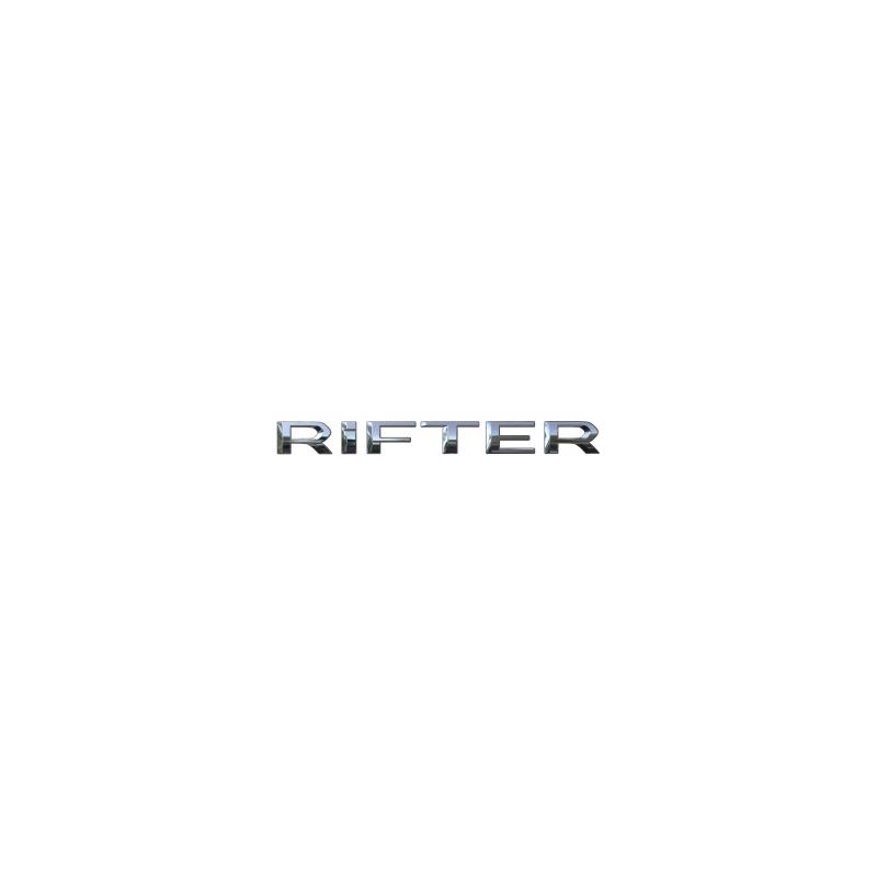 """Štítok """"RIFTER"""" zadná časť vozidla Peugeot Rifter"""