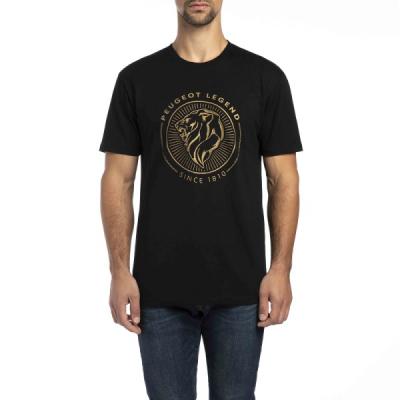 Männer schwarz T-Shirt Peugeot LEGEND
